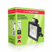 LED Прожектор с датчиком движения EUROELECTRIC 20W 6500K