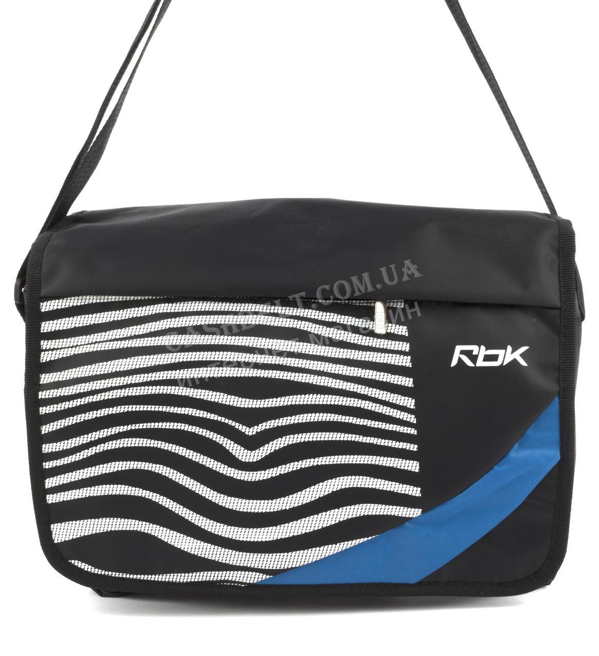 Спортивна чоловіча сумка бренд РБК art. 2145 чорна (101041) Україна