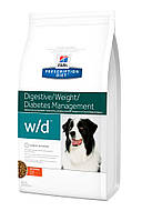 Hill`s (Хиллс) PD Canine W/D - лечебный корм для собакдля снижения веса, а также для контроля веса, 1.5кг