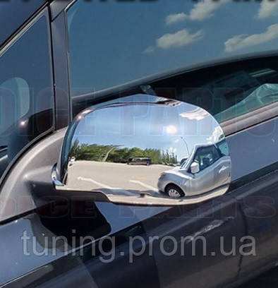 Хромированные накладки на зеркала для Nissan Leaf