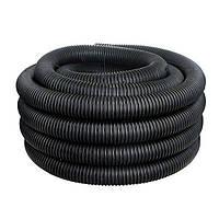 Двустенные гибкие гофрированные трубы из полиэтилена, цвет чорный, d200, с протяжкой