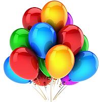 Воздушные шарики металл, ассорти ,30см, 100 шт