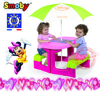 """Smoby DISNEY """"MINNI"""" Столик для пікніка + парасолька"""