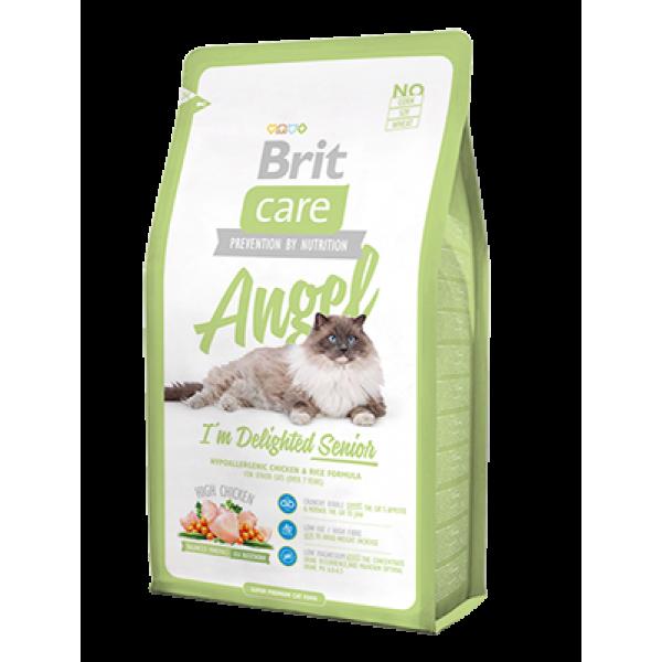 Brit Care (Брит кеа) Cat Angel корм с курицей и рисом для пожилых кошек, 2 кг