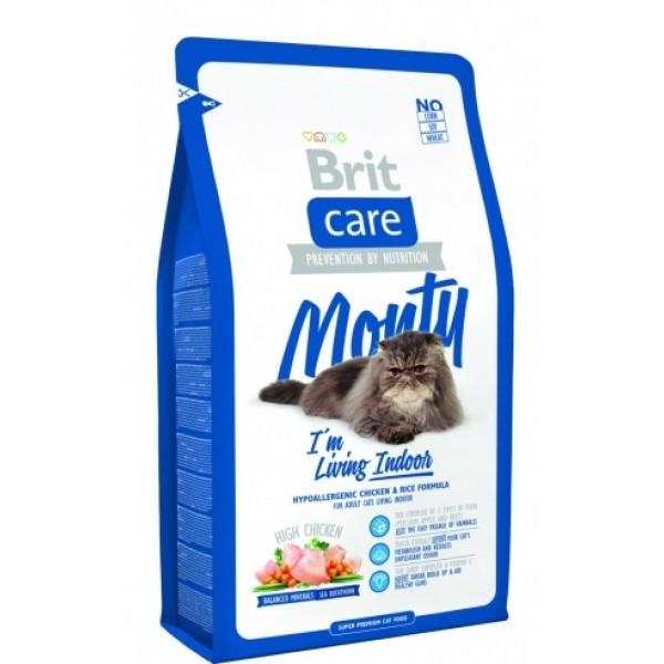 Brit Care (Брит кеа) Monty Indoor Сухой корм для взрослых кошек не покидающих помещение, 2 кг