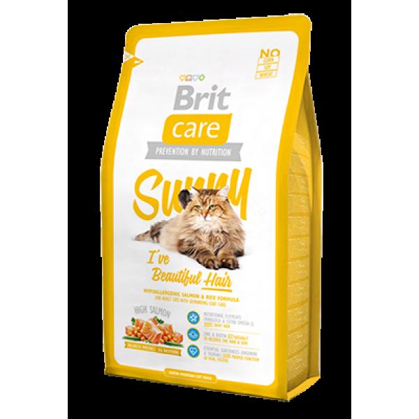 """Brit Care (Брит кеа) Sunny Beautiful Hair Корм для кошек, шерсть которых требует дополнительного ухода - Интернет-магазин """"Zoomaa"""" в Одессе"""