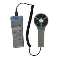 Круглый лопастный анемометр + электронный термометр Mastercool MC 52236