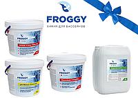 Набор химии для бассейна FROGGY (комплексный) + подарок