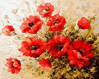 Картина-раскраска Турбо Маковое настроение (VP579) 40 х 50 см