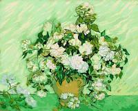 Картина по цифрам Турбо Ваза с розами худ. Винсент Ван Гог (VP591) 40 х 50 см