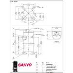 Герметичный спиральный компрессор Panasonic (SANYO) C-SBN233H8E, фото 2