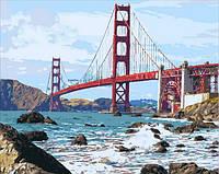 Картина-раскраска Mariposa Мост Золотые Ворота (MR-Q2095) 40 х 50 см
