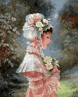 Картина-раскраска DIY Babylon Девушка в чепце с лентами Худ Бренда Берк (VP673) 40 х 50 см
