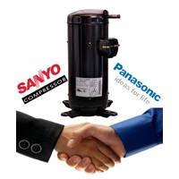 Герметичный спиральный компрессор Panasonic (SANYO) C-SBS120H38Q EVI