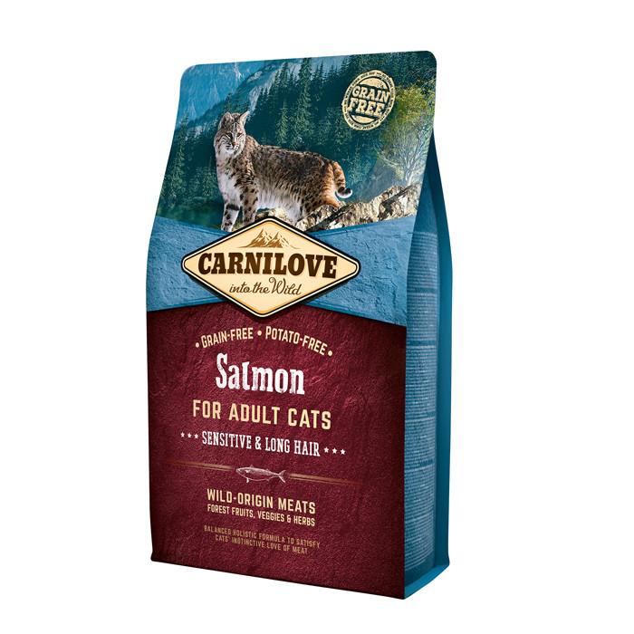 CarniLove Salmon for Adult Cats беззерновой корм с лососем для взрослых кошек, 2 кг