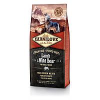 CarniLove (Карнилав) Lamb & Wild Boar for Adult Dog беззерновой корм для собак всех пород, 1.5 кг
