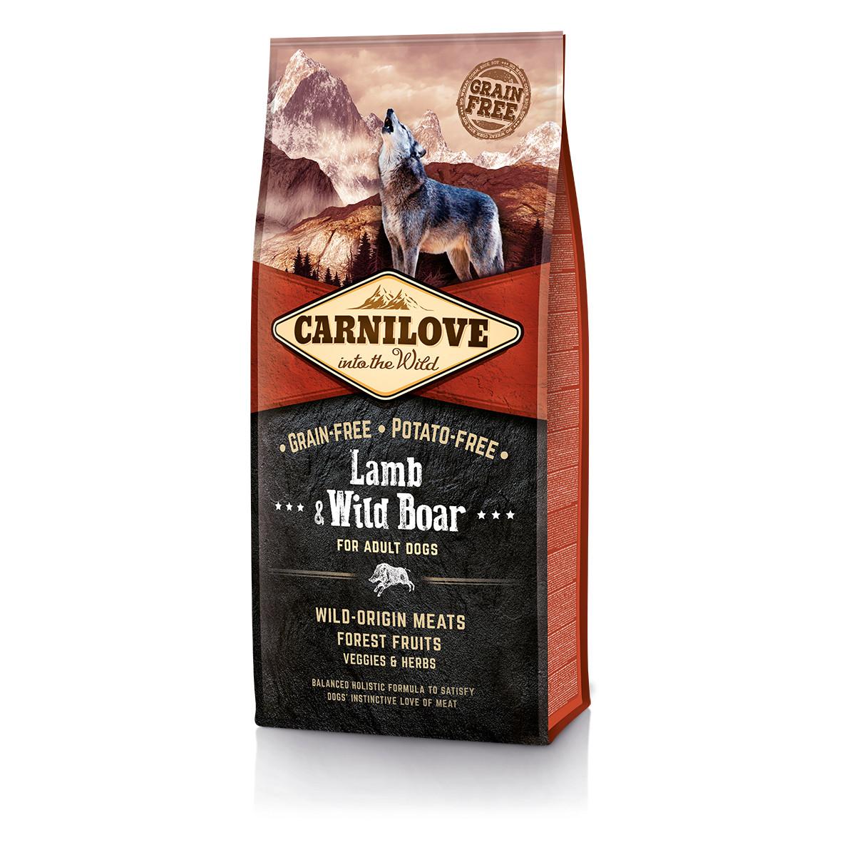 CarniLove (Карнилав) Lamb & Wild Boar for Adult Dog беззерновой корм для собак всех пород, 12 кг