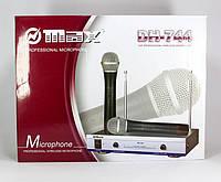 Радиосистема DH-744 микрофон 2 шт с базой для караоке, пения.
