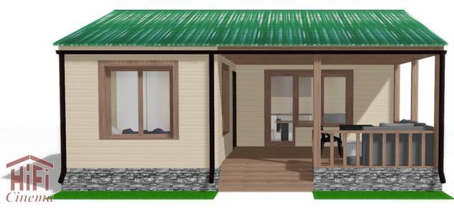 Одноэтажный эко коттедж энергосберегающий дом