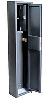 Сейф Оружейный Усиленный СО 1100У/1Т для хранения Одного Ружья высотой до 1080 мм с отделением для патронов