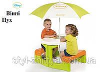 """Smoby DISNEY """"ВІННІ"""" Столик для пікніка + парасолька"""