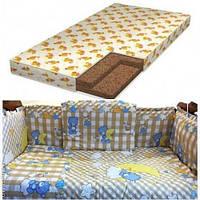 АКЦИЯ!!! Матрас в детскую кроватку+защита+постельное бельё.