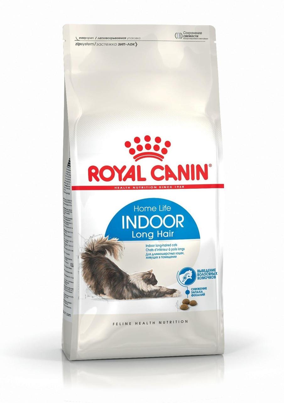 Royal Canin (Роял Канин) Indoor Longhair 35 сухой корм для длиношерстных кошек, живущих в помещении, 10 кг