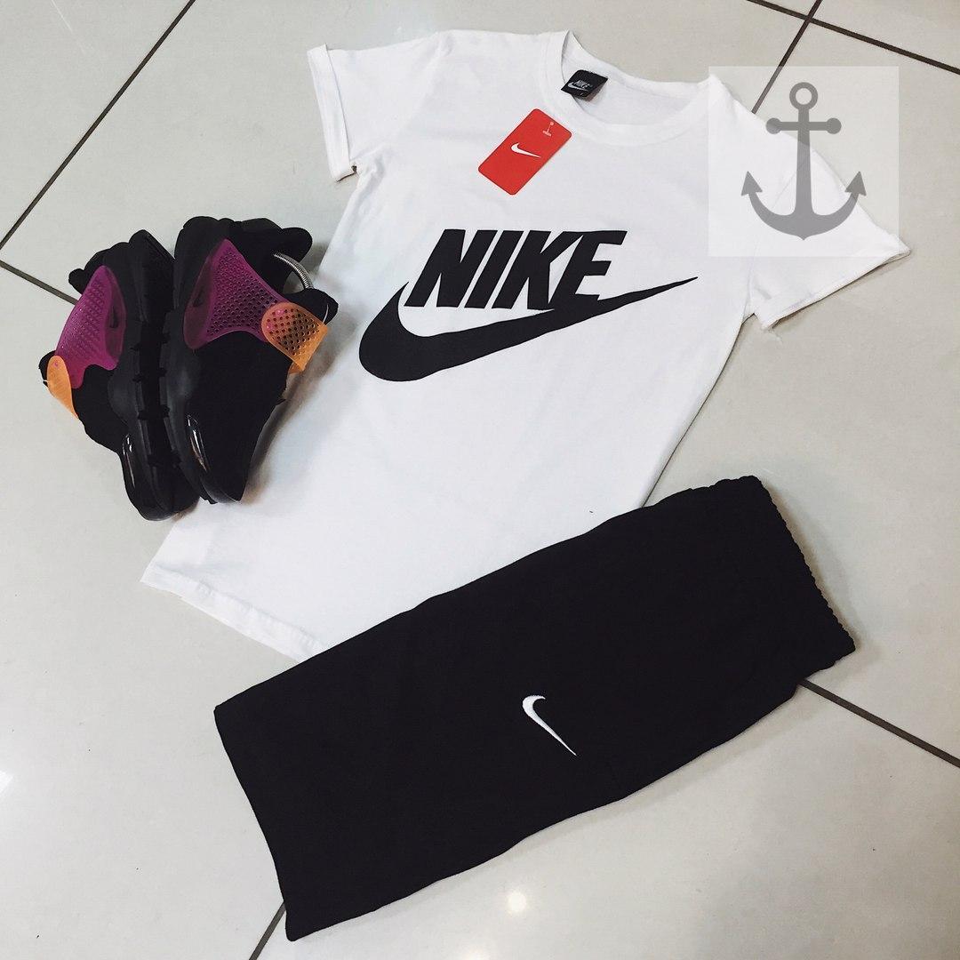 Комплект Nike (Найк), большой черный логотип-галочка