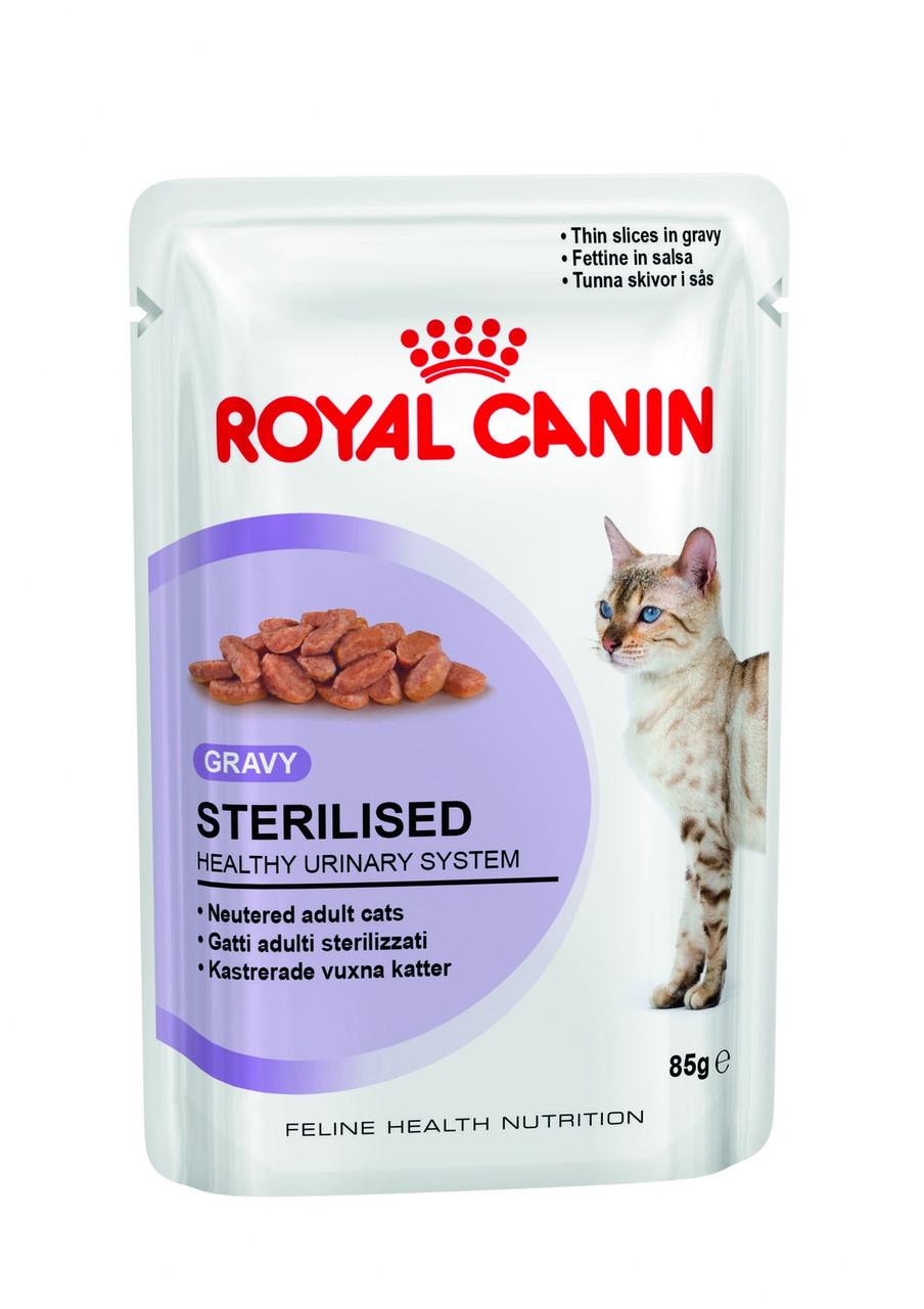 Royal Canin Sterilised в соусе старше 1 года, стерилизованные, 12 шт