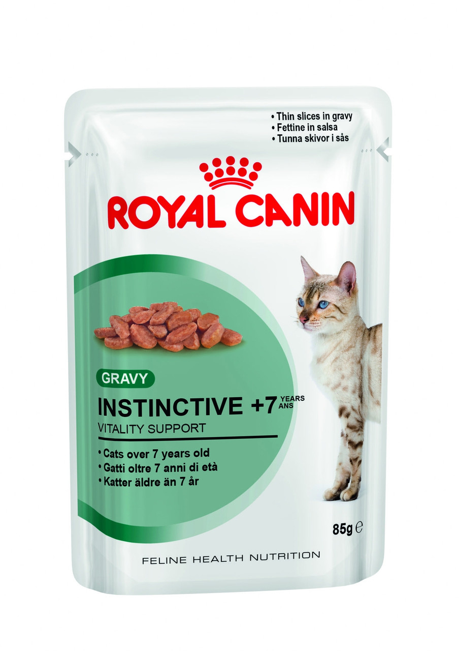 Royal Canin Instinctive +7 паучи в соусе (старше 7 лет), 12 шт