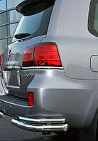Задняя защита бампера Lexus LX-570, двойные углы