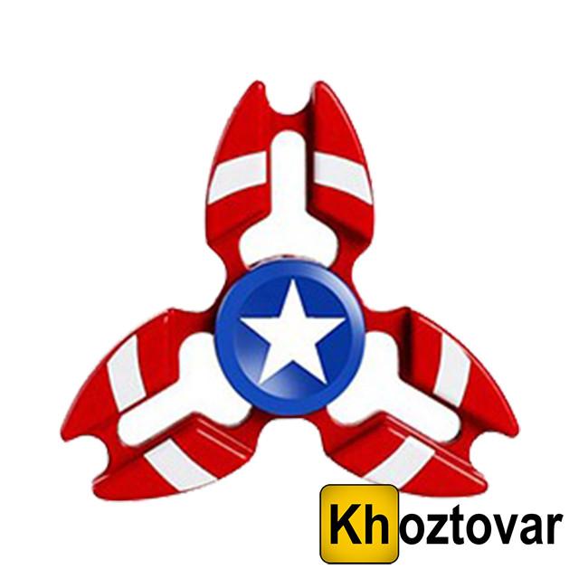 "Металлический спиннер ""Капитан Америка"" Hand Spinner Captain America | Вертушка с подшипником | Хенд"