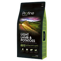 Profine (Профайн) Light Lamb & Potatoes корм для оптимизации веса собак, 15 кг
