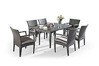 Комплект Обеденный стол + 6 стульев