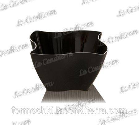 Пластиковая черная креманка «Elika» 375-11 (350 мл)