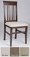 Стул Алена, Темный орех, деревянный, мягкий, твердая спинка, разные варианты обивки