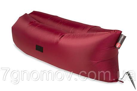 Ламзак, надувной шезлонг-лежак Light бордовый, фото 2