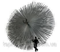 Щетка для удаления сажи стальная под веревку, фото 2
