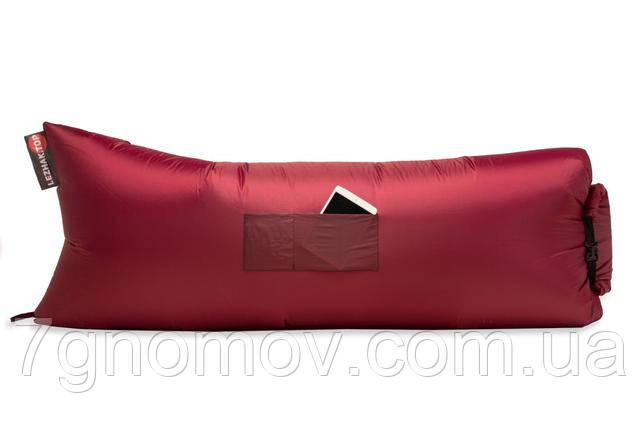 Ламзак, надувной шезлонг-лежак Standart бордовый
