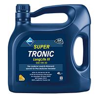 Aral SuperTronic Longlife III SAE 5W-30 - моторное масло синтетика - 4 литра.