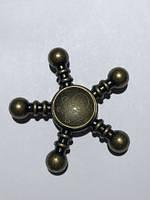 Спиннер (spinner)Металлический  Череп  бронзовый