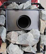 """Дровяная каменка для бани """"Пруток"""" с панорамным обзором и выносной топкой, фото 2"""
