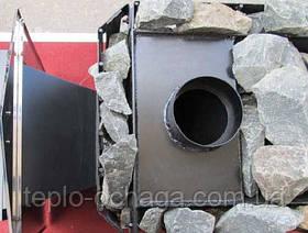 """Дровяная каменка для бани """"Пруток"""" с панорамным обзором и выносной топкой, фото 3"""