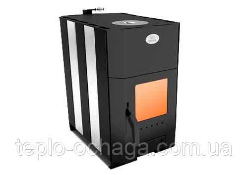 Печь отопительно-варочная Огнев ПОВ-150 с конфоркой и стеклянной дверцей