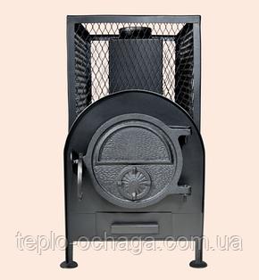 Печь котел для бани с квадратной сеткой без выноса топки, фото 2