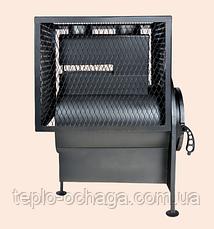 Печь котел для бани с квадратной сеткой без выноса топки, фото 3