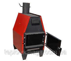 Zubr ПДГ-15 печь длительного горения с варочной поверхностью, фото 2