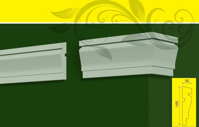 Молдинг - декор фасада из пенопласта, в/ш, мм: 145 / 35