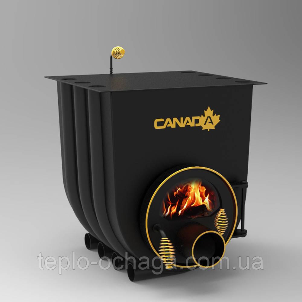Печь Буллерьян Канада отопительно-варочная, тип 03 со стеклом