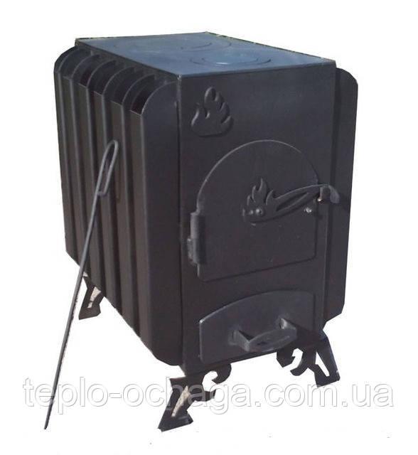 Буржуйка дровяная с радиаторами, 4 мм сталь